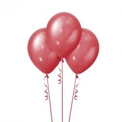 Набор из 3 шаров Cherry Red Металлик 30 см