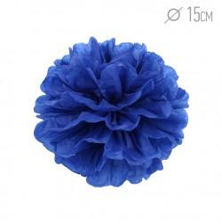 Помпон из бумаги 15 см темно-синий