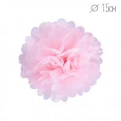 Помпон из бумаги 15 см светло-розовый