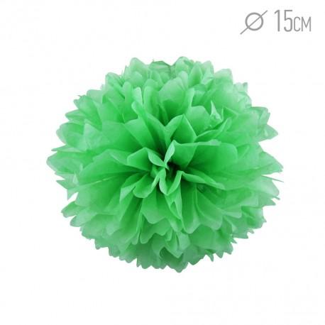 Помпон из бумаги 15 см светло-зеленый