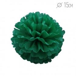 Помпон из бумаги зеленый 15см