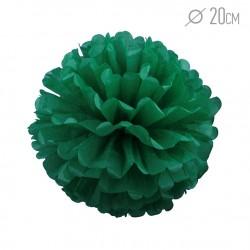 Помпон из бумаги 20 см зеленый