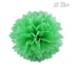Помпон из бумаги 20 см светло-зеленый
