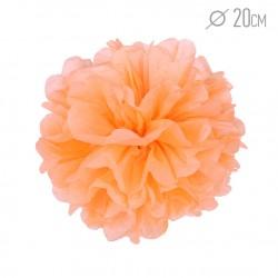 Помпон из бумаги 20 см светло-оранжевый
