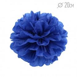 Помпон из бумаги 20 см темно-синий