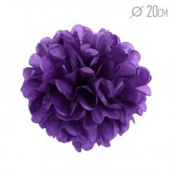 Помпон из бумаги 20 см фиолетовый