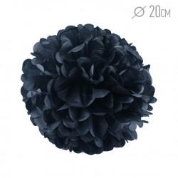 Помпон из бумаги 20 см черный