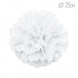 Помпон из бумаги 25 см белый