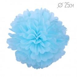 Помпон из бумаги 25 см голубой