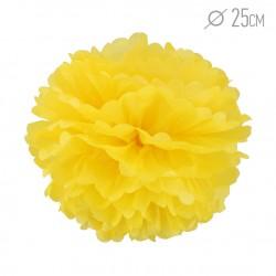 Помпон из бумаги 25 см желтый