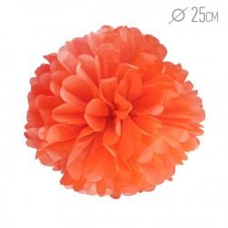 Помпон из бумаги оранжевый 25см
