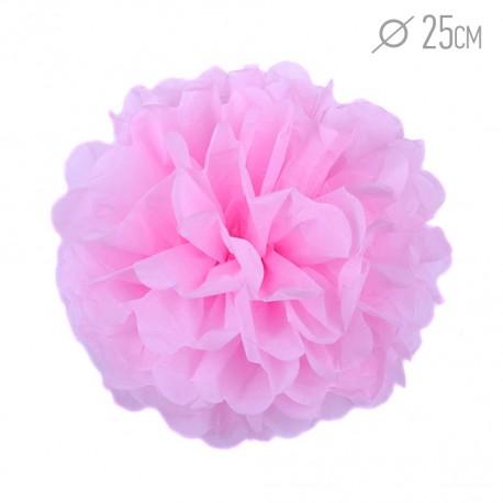 Помпон из бумаги 25 см розовый