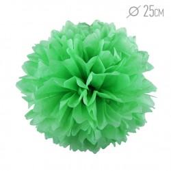 Помпон из бумаги 25 см светло-зеленый