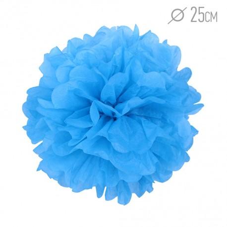 Помпон из бумаги 25 см синий