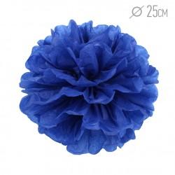 Помпон из бумаги 25 см темно-синий