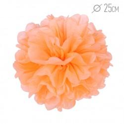 Помпон из бумаги 25 см светло-оранжевый