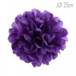 Помпон из бумаги 25 см фиолетовый