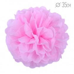 Помпон из бумаги 35 см розовый