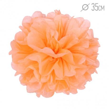 Помпон из бумаги 35 см светло-оранжевый