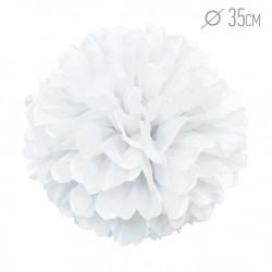 Помпон из бумаги 35 см белый