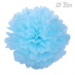 Помпон из бумаги 35 см голубой