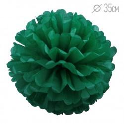 Помпон из бумаги 35 см зеленый