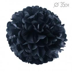 Помпон из бумаги черный 35см