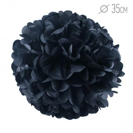 Помпон из бумаги 35 см черный