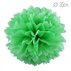 Помпон из бумаги 35 см светло-зеленый