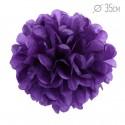 Помпон из бумаги 35 см фиолетовый