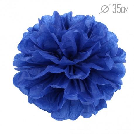Помпон из бумаги 35 см темно-синий
