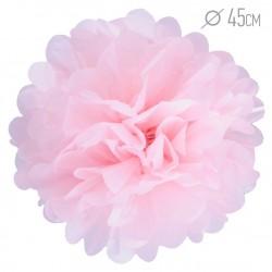 Помпон из бумаги 45 см светло-розовый