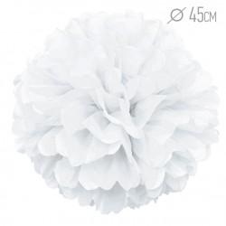 Помпон из бумаги Белый 45см