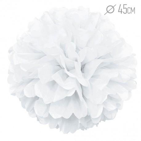 Помпон из бумаги 45 см белый