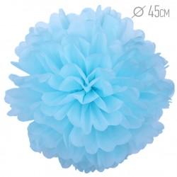 Помпон из бумаги 45 см голубой