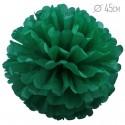 Помпон из бумаги 45 см зеленый