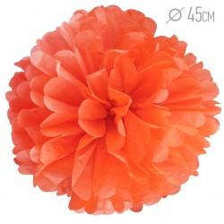 Помпон из бумаги 45 см оранжевый