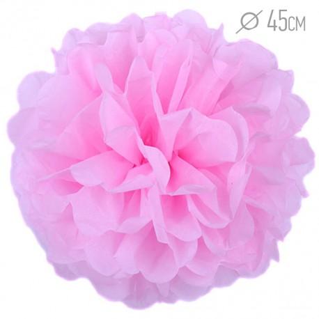 Помпон из бумаги 45 см розовый