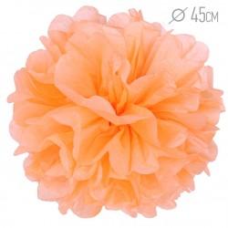 Помпон из бумаги 45 см светло-оранжевый