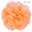 Помпон из бумаги светло-оранжевый 45см