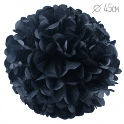 Помпон из бумаги 45 см черный
