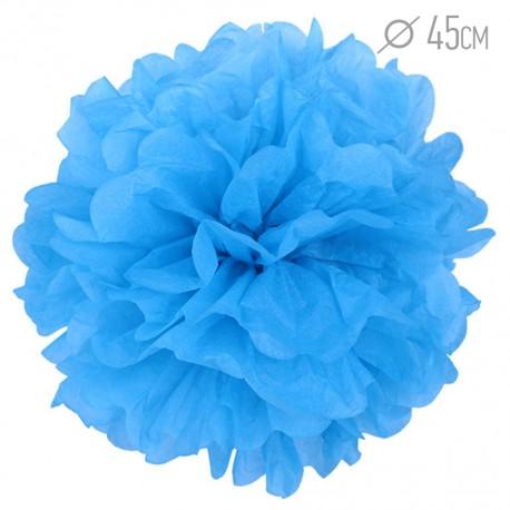 Помпон из бумаги 45 см синий
