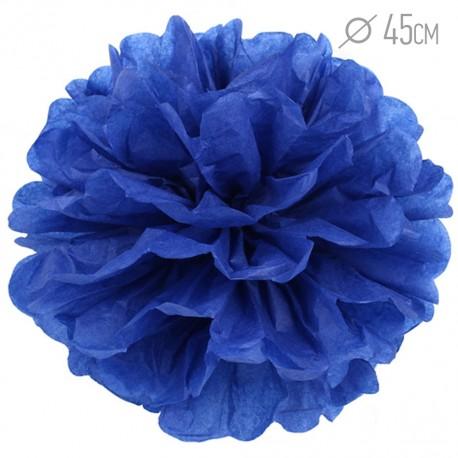 Помпон из бумаги 45 см темно-синий