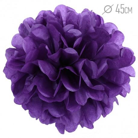 Помпон из бумаги 45 см фиолетовый