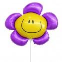 Цветочек фиолетовый солнечная улыбка 35см