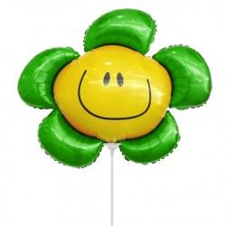 Цветочек зеленый солнечная улыбка 35см