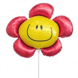 Цветочек красный солнечная улыбка 35см
