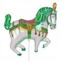 Цирковая лошадь зеленая 35см