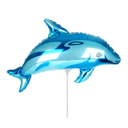 Шар Дельфинчик синий 35см