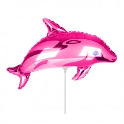 Шар Дельфинчик фуксия 35см
